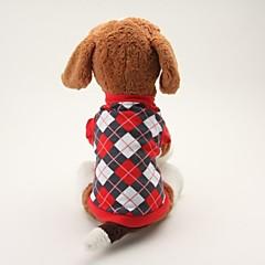 お買い得  犬用ウェア&アクセサリー-犬 Tシャツ 犬用ウェア 格子柄 ブラック ブルー コットン コスチューム ペット用 男性用 女性用 クラシック カジュアル/普段着