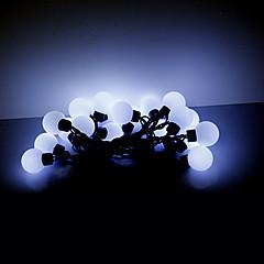 preiswerte LED Lichtstreifen-5m 20 LED Weihnachten Halloween dekorative Leuchten festlichen Streifenlichter-große weiße Kugelleuchten (220V)