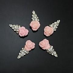 10 buc roz floare formă înghețată 3d stras accesorii DIY unghii decorare