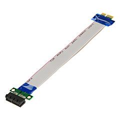 abordables Conectores y Terminales-pci-e pci express 1x a 1x cinta del convertidor adaptador de extensión de la tarjeta vertical (20cm)