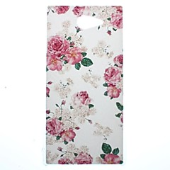 Недорогие Чехлы и кейсы для Sony-Beautiful Rose Flower Transparent Pattern PC Hard Case for Sony Xperia M2 S50h