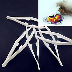 abordables Cuentas y Adornos de Cuentas-1pcs blanco herramienta pinzas plásticas para perlas de fusibles hama bricolaje safty rompecabezas para los niños de artesanía