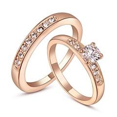preiswerte Ringe-Damen Statement-Ring - Krystall, vergoldet Modisch 6 / 7 / 8 Silber / Golden Für Hochzeit / Party / Verlobung / Alltag / Normal / Kubikzirkonia / Zirkon