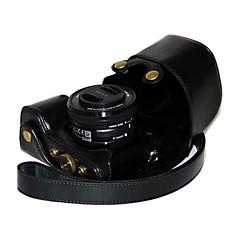 16-50mm 2.8 / 16 렌즈와 소니 알파 A6000에 대한 스타일을 충전 dengpin® 가죽 카메라 케이스 오일 피부