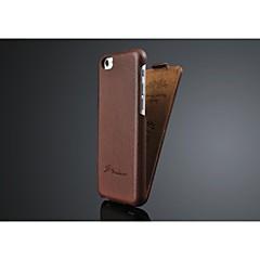 Para Funda iPhone 6 / Funda iPhone 6 Plus Flip Funda Cuerpo Entero Funda Un Color Dura Cuero Sintético iPhone 6s Plus/6 Plus / iPhone 6s/6