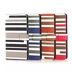 Varten Samsung Galaxy Note Korttikotelo / Tuella / Flip / Kuvio Etui Kokonaan peittävä Etui Linjat / aallot Tekonahka Samsung Note 4