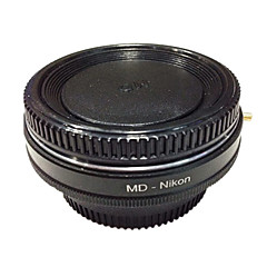 newyi md-nikon optiskt glas minolta md linsen till Nikon adapter för D7100 D7000 d5300 d5200 d3300 D3200 d90 d80