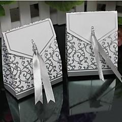 lureme divat szeres réz kártya cukorka doboz (ezüst, arany), (100 db)