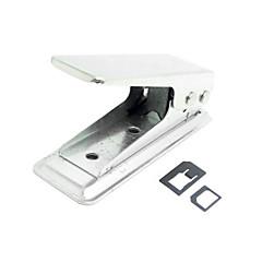 iPhoneの5Sのためのナノアダプタに2マイクロ5 5cにiPadのミニとSIMカードパンチカッターをnanoに標準SIM