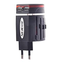 neje originele worlgwide reisadapter& dual usb charger