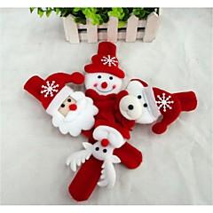 Regalos de Navidad Juguetes de Navidad Brazalete con cierre Juguetes Monigote de nieve Bonito Papá Noel Niños Niño 1 Piezas