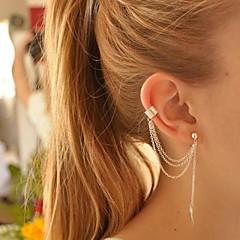 お買い得  イヤリング-女性用 クリップイヤリング 耳の袖口 イヤリング - 銀メッキ リーフ オリジナル, 欧風, ファッション シルバー / ゴールデン 用途 パーティー 誕生日 日常