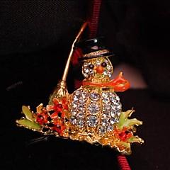 olcso Brossok-divat karácsonyi hóember ötvözet bross