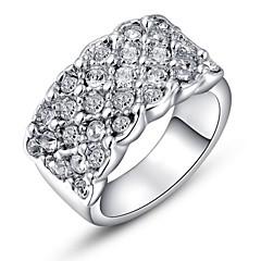 preiswerte Ringe-Damen Kristall Statement-Ring - Krystall, vergoldet, Diamantimitate Luxus 6 / 7 / 8 Silber / Golden Für Hochzeit Party Alltag / Kubikzirkonia / Zirkon