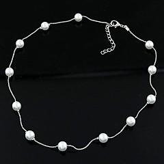 billige Perle Halskæde-Dame Perle Imiteret Perle Perlehalskæde  -  Personaliseret Mode Enlig Snor Halskæder Til Daglig