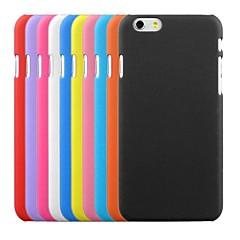 Недорогие Кейсы для iPhone 6 Plus-Кейс для Назначение Apple iPhone 6 iPhone 6 Plus Матовое Кейс на заднюю панель Сплошной цвет Твердый ПК для iPhone 6s Plus iPhone 6s