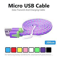 billige -Micro USB 2.0 USB-kabeladapter Normal Kabel Til PVC
