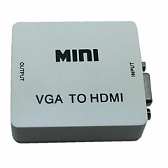 mini audio vga 1080p converter adapter HDMI met audio usb stroom voor pc d