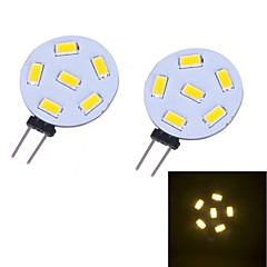 G4 LED à Double Broches 12 diodes électroluminescentes SMD 5730 Blanc Chaud 230lm 3000~3500K DC 12V