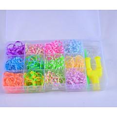 szivárvány színes szövőszék stílusban sávjainak (600pcs gumiszalag, 8 s, 1y, 1hook)