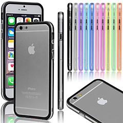 Недорогие Кейсы для iPhone-Кейс для Назначение iPhone 5 Apple Кейс для iPhone 5 Прозрачный Бампер Сплошной цвет Твердый ПК для iPhone SE/5s iPhone 5