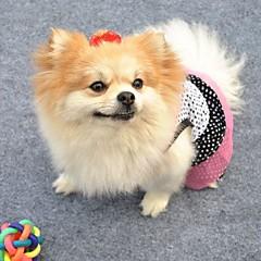 お買い得  猫の服-ネコ 犬 ドレス 犬用ウェア 水玉 ホワイト ブラック コットン コスチューム ペット用 コスプレ 結婚式