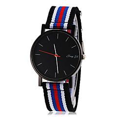 お買い得  メンズ腕時計-男性用 リストウォッチ カジュアルウォッチ 生地 バンド チャーム 多色 / SSUO 377