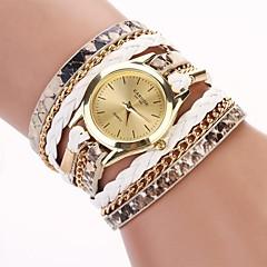 お買い得  レディース腕時計-女性用 クォーツ ブレスレットウォッチ PU バンド カジュアル / ファッション ブラック / 白 / ブルー / レッド / ピンク