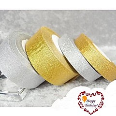 25 de metri 15mm aur mare sau sclipici de argint panglica stralucitoare, nunta glitter DIY panglică strălucitoare