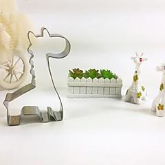 tanie Przybory i gadżety do pieczenia-Żyrafa szablonowego herbatniki metalu zwierząt chleba ze stali szlachetnej pleśni narzędzia DIY pieczenia