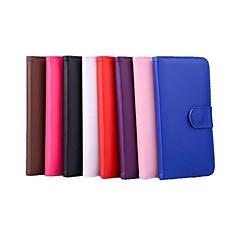 Недорогие Кейсы для iPhone X-Кейс для Назначение Apple iPhone X iPhone 8 iPhone 6 iPhone 6 Plus Бумажник для карт Кошелек со стендом Флип Чехол Сплошной цвет Твердый