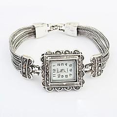 Mulheres Bracele Relógio Quartzo Lega Banda Flor Elegantes Prata