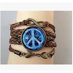 preiswerte Armbänder-Damen Wickelarmbänder - Edelstein, Leder Unendlichkeit Inspirationen Armbänder Für Alltag Normal Sport