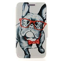voordelige Hoesjes / covers voor Nokia-Voor Nokia hoesje Kaarthouder / Flip hoesje Volledige behuizing hoesje Hond Hard PU-leer Nokia Nokia Lumia 630