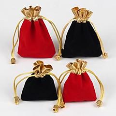 Genți de Bijuterii Material Textil Negru / Roșu