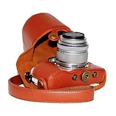 abordables Fundas-caja de la cámara patrón de litchi dengpin® pu cuero de la pluma Olympus E-PL7 con 17 mm / 14-42mm lente