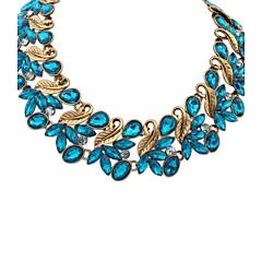お買い得  ネックレス-女性用 ステートメントネックレス  -  ステートメント, ぜいたく, 欧風 ブラック, ブルー, 虹色 ネックレス ジュエリー 用途