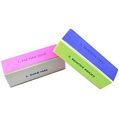 1pcs 4-weg multi-color nail art polijsten blok schuren bestanden / verwijderen richels / gladde nagel / glans nagel