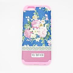personlized telefoon case - blauwe bloem sillicone voor iPhone 6