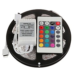 cheap LED Strip Lights-5m Flexible LED Light Strips / Light Sets / RGB Strip Lights LEDs 5050 SMD Remote Control / RC / Cuttable / Dimmable 12 V / Linkable / Self-adhesive / IP44