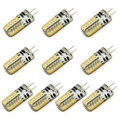 abordables Regalo Gratis-10pcs 3 W 260 lm G4 Luces LED de Doble Pin 48 Cuentas LED SMD 3014 Blanco Cálido / Blanco Fresco 12 V / Cañas