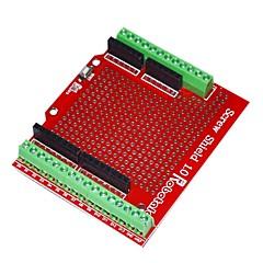 billige Bundkort-robotale proto skrue skjold samlet til Arduino - rød