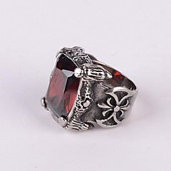 cheap Rings-Men's Statement Ring - Fashion Black Red Ring For Party Daily Casual