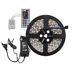 お買い得  LED ストリングライト-5メートル300x5050 SMD RGB LEDストリップライトと44keyリモコンと6aはEUの電力供給(ac110-240v)