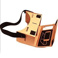 """お買い得  3Dメガネ-DIY Google Cardboard Virtual reality VR Mobile Phone 3D Glasses with NFC Tag for 4-4.5"""" Screen"""