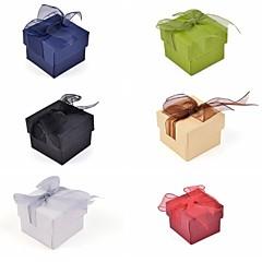 papier pudełko koronki łuk pierścień