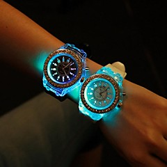 Unisex Round Dial Luminous Silicone Band Fashion Quartz Watch (Assorted Colors) Cool Watches Unique Watches Strap Watch