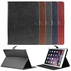 halpa iPad Air 2 kotelot/kuoret-Etui Käyttötarkoitus iPad Air 2 Tuella AutomAutomaattinen auki / kiinni Magneetti Suojakuori Yhtenäinen väri PU-nahka varten iPad Air 2
