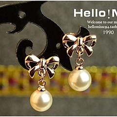 お買い得  イヤリング-女性用 ドロップイヤリング  -  真珠 用途 結婚式 パーティー 日常