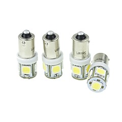 BA9S 車載 トラック、トレーラー用 オートバイ ホワイト 2.5W SMD LED 高性能LED 6000-6500 計器灯 読書灯 ライセンスプレートライト 車幅灯 方向指示灯 ブレーキライト 逆転ランプ 検査ランプ 標灯 LEDエンジェルアイ電球 高出力